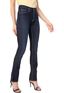 Calça Jeans Calvin Klein Reta Estonada Azul