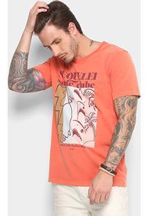 Camiseta Redley Tinturada Estampada Masculina - Masculino