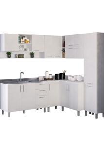 Cozinha Compacta Com 7 Peças Floripa 22-Politorno - Branco