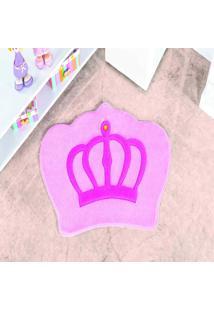 Tapete Dourados Enxovais Formato Big Coroa Rosa