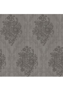 Papel De Parede Floral- Cinza & Cinza Escuro- 1000X5Shark Metais