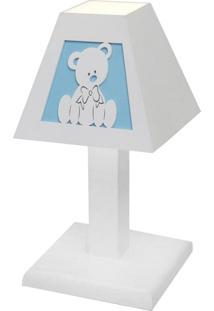 Abajur Urso Baby Mdf - Azul Bebê - Ursinhos