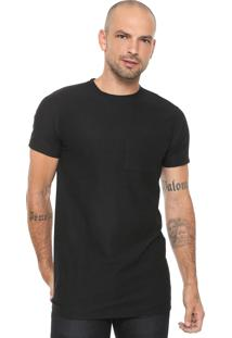 Camiseta Fiveblu Manga Curta Com Bolso Preta