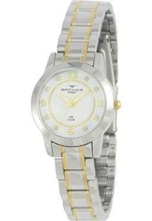 Relógio Feminino Backer Analógico 10217134F - Unissex-Prata