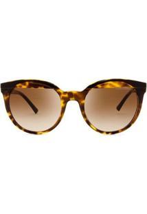 Óculos De Sol Armani Exchange Tartaruga Feminino - Feminino-Marrom