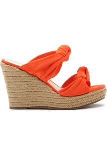 Sandália Anabela Corda Knot Orange | Schutz