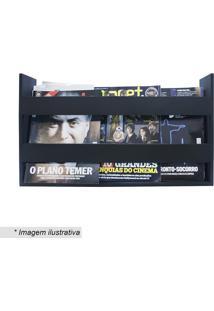 Porta Livros & Revistas De Parede- Preto- 30X50X11Cmkapos