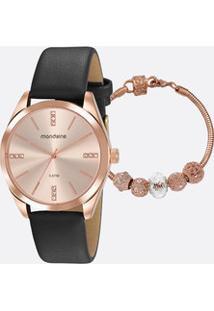 Kit Relógio Feminino Strass Mondaine 76732Lpmvrh3K