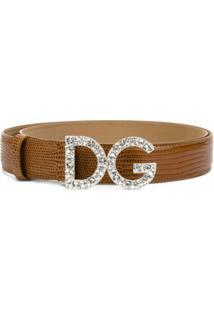 Dolce & Gabbana Cinto De Couro Com Fivela - Marrom