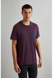 Camiseta Reserva Bolso Masculino - Masculino-Bordô