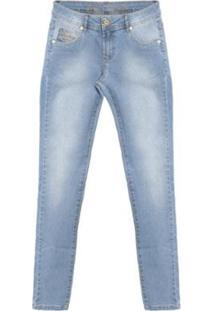 Calça Jeans Curve - Jeans Aleatory Feminina - Feminino-Azul
