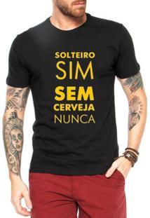 Camiseta Criativa Urbana Engraçadas Solteiro - Masculino