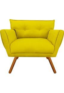 Poltrona Decorativa Anitta Suede Amarelo - D'Rossi - Amarelo - Dafiti