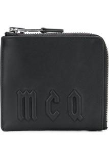 Mcq Alexander Mcqueen Carteira Com Logo De Couro - Preto