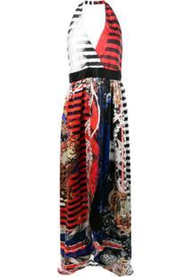 Balmain Vestido Frente Única Com Estampa - Multicolor
