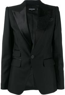 Dsquared2 Glitter Brush Tuxedo Jacket - Preto