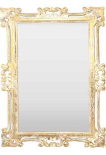 Espelho Decorativo Floral Gold