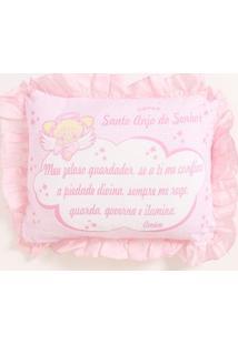 Travesseiro Santo Anjo Infantil Para Bebê - Rosa