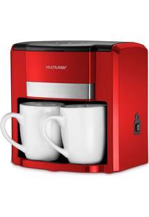 Cafeteira Elétrica Multilaser Be016 2 Xícaras 500W Vermelho