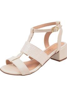 Sandália Rosa Chic Calçados Duquesa Branca