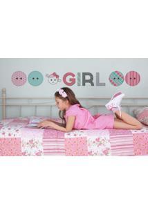Adesivo De Parede Infantil Quartinhos Girl Colorido