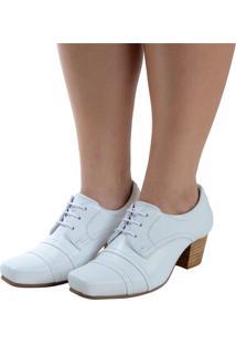 Sapato Fechado Laura Prado Confort Branco