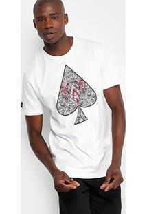 Camiseta Mcd Naipes Masculina - Masculino-Branco