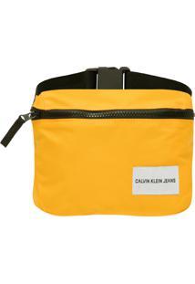 Pochete Masculina Quadrada Logo - Amarelo