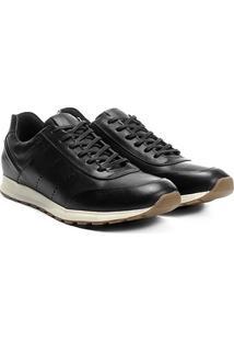 Tênis Couro Shoestock Jogging Perfuros Masculino - Masculino