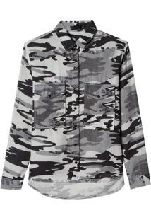 Camisa John John Camo Desert Estampado Feminina (Estampado, P)