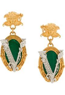 Versace Par De Brincos Virtus - Dourado