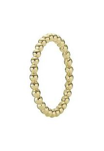 Anel Mini Pontos Banhado Á Ouro 14K- Dourado- Tamanhpandora