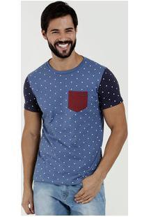 Camiseta Masculina Estampa Bolinhas Manga Curta Rock & Soda