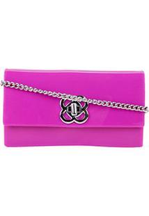 Bolsa Petite Jolie Mini Bag Lonh Wallet Feminina - Feminino-Rosa Escuro