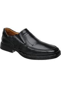Sapato Doctor Pé Conforto Autêntico Couro De Carneiro 77001 - Masculino-Preto