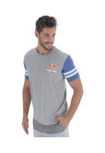 Camiseta Red Bull Racing Gyw - Masculina - Cinza/Azul Esc