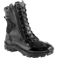 335b61bf8 Coturno Force Militar (02 Ziperes) Couro Legitimo. - Masculino