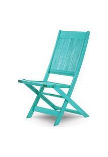 Cadeira Retangular Dobravel Acqualung+ S/Braco Azul 99Cm - 61636 Azul