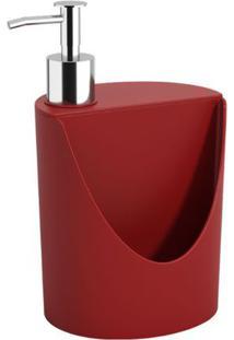 Dispenser R&J Basic 600Ml 12X10,5X18Cm Vermelho Bold - 10837/0465 - Coza - Coza