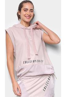 Blusa Colcci Moletom C/ Capuz Feminina - Feminino