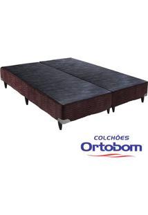 Box Queen - Camurça Marrom - Ortobom - 158X198X23
