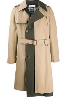 Alexander Mcqueen Trench Coat Com Recortes - Neutro