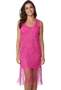Saída De Praia Vestido Rendado Pink | 573.753
