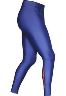 Calça De Compressão Spartanus Fightwear Masculina Blue Orange