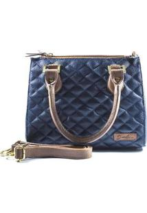 Bolsa Deodora Store Handbag Alça Dupla Matelassê Feminina - Feminino-Azul