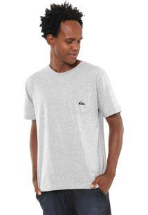 Camiseta Quiksilver Logo Pocket Cinza