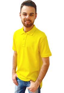 Camisa Polo Manga Curta Villa Rock Amarela