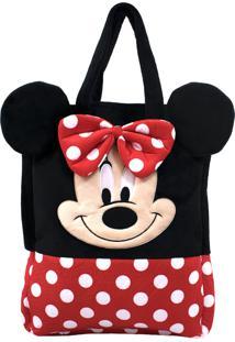 Bolsa Pelúcia Rosto Minnie - Disney - Tricae