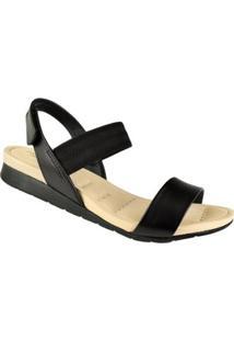 Sandália Modare Com Elástico Feminina - Feminino-Preto