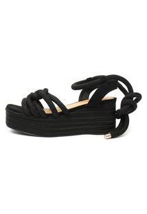 Sandália De Corda Damannu Shoes Thaila Preto